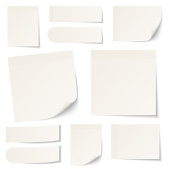 Stick Notes Beige Collection