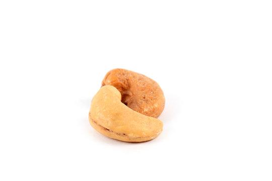 Peanut isolated. Peanuts on white.