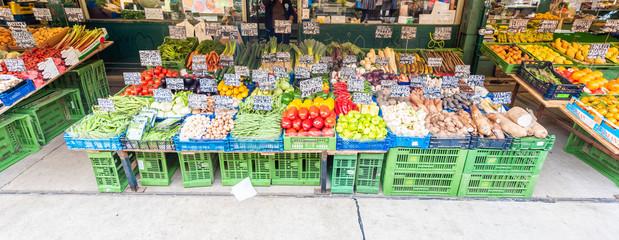 fruit and vegetables at market