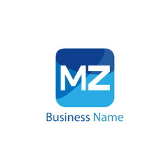 Initial Letter MZ Logo Template Design