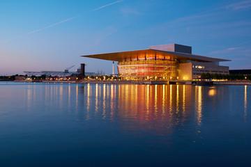 The Copenhagen Opera House  at night