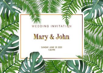 Nature Wedding Marriage Event Invitation Card Template