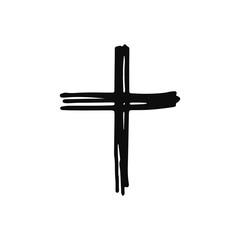 cross icon. sketch isolated object black