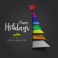 happy holidays and joyful new year greeting card happy holidays and joyful new year vector