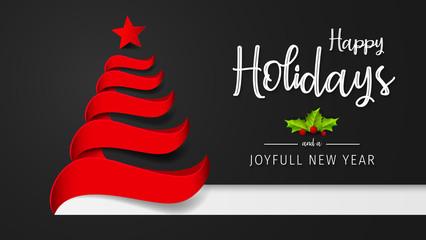 Happy Holidays and Joyful New Year Greeting Card. Happy Holidays and Joyful New Year Vector Design.
