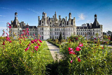 Chateau de Chambord, panoramic view from the garden