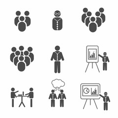 People teamwork collaboration icon vector eps10