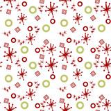 Pattern Con Motivi Rosso E Oro Su Sfondo Verde Stock Photo And