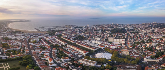 Aerial view Royan in France, department Charente Maritime
