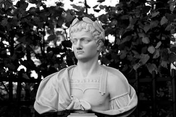 Aluminium Prints Historic monument Statue of Titus Flavius Vespasianus. The Roman emperor.
