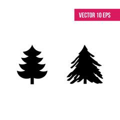 Christmas fir-tree vector icons