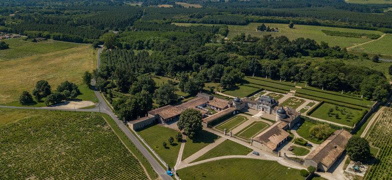 France, castle of Malle in Gironde, Sauternes, France