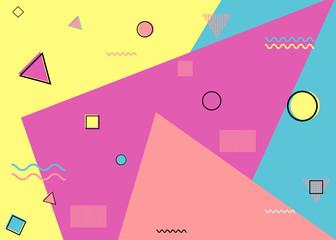 Pattern memphis style vector Geometric seamless pattern. Memphis style.Design backgrounds for invitation, brochure. - vector illustration