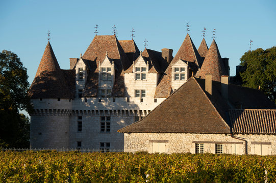 The castle of Monbazillac, historical monument, Sweet botrytized wines have been made in Monbazillac