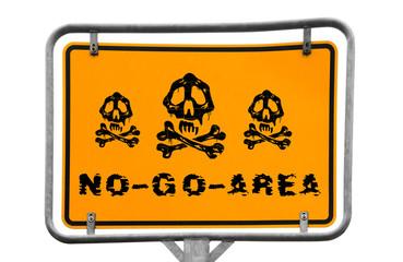 No-go-area signpost