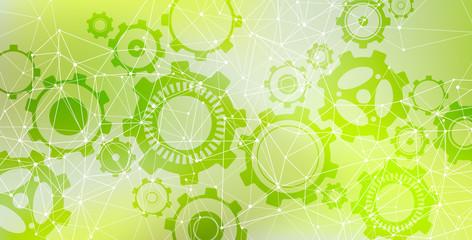 Green technology background illustration