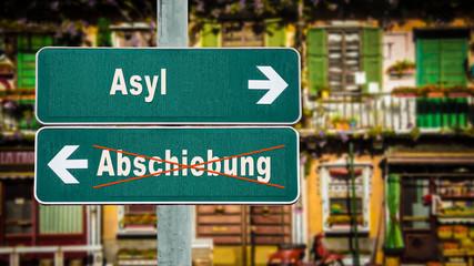 Schild 350 - Asyl