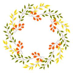 Autumn wreath illustration