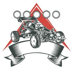 Super Racing Car Badge