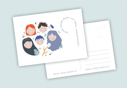 Illustrated Postcard Layouts