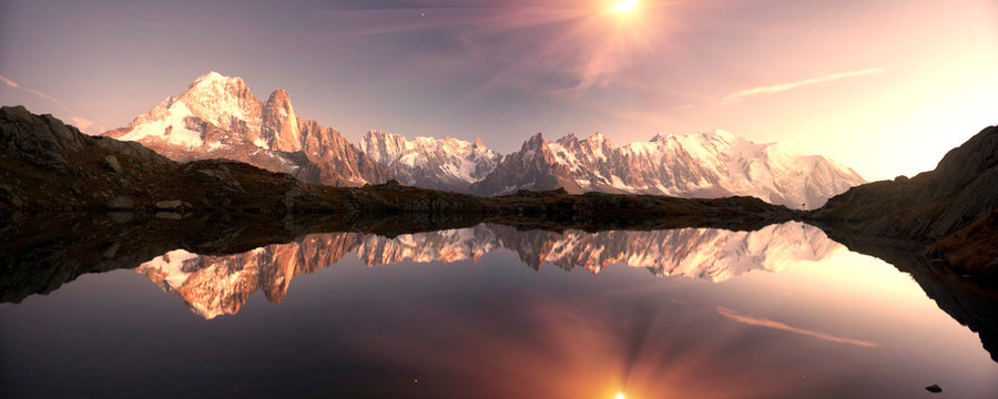 Lac Blanc  Lakes Chamonix in the Alps