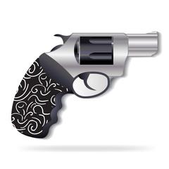 Gun black metal icon vector logo