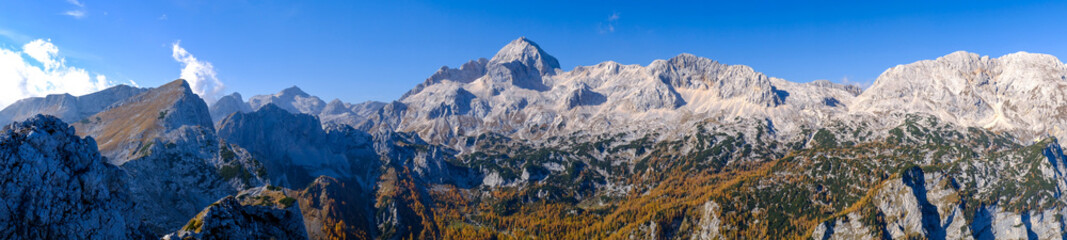 Triglav mountain in autumn in Slovenia