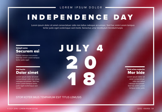Independence Day Flyer with Flag