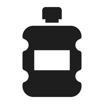 Plastic water bottle icon. Simple illustration of plastic water bottle vector icon for web design isolated on white background