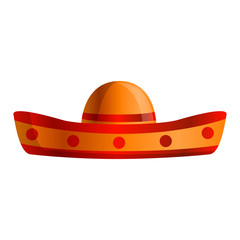 Mexican sombrero icon. Cartoon of mexican sombrero vector icon for web design isolated on white background