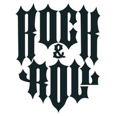 Rock lettering, poster or t-shirt design, vector