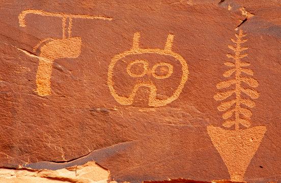 Detail, Wolfman Petroglyphs