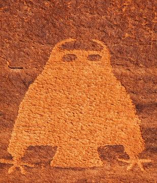 Owl Petroglyph, Colorado River