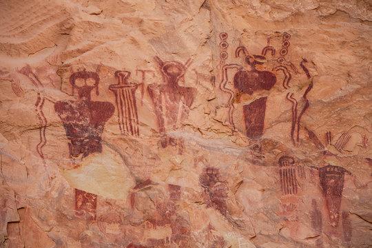 Pictograph Panel, Sego Canyon, Utah