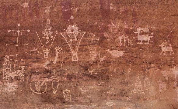 Petroglyph, Sego Canyon, Utah