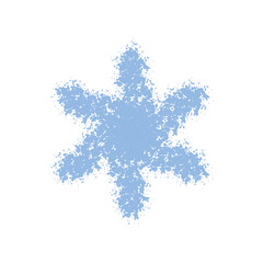 Grainy Grunge Snowflake
