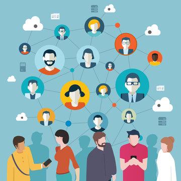 réseau social d'un groupe de personne