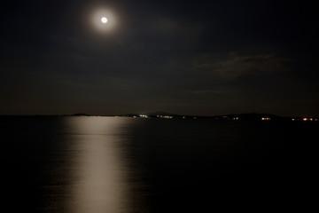 Sea under the moon