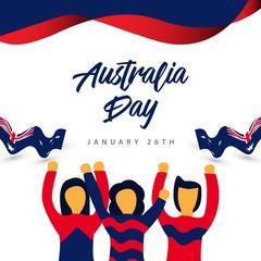 Australia Day Vector Template Design Illustration