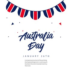 Australia Day Vector Template Design Illustration