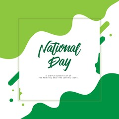 Nigeria National Day Vector Template Design Illustration