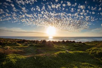 Cape Woolamai beach at sunset; Phillip Island, Victoria, Australia