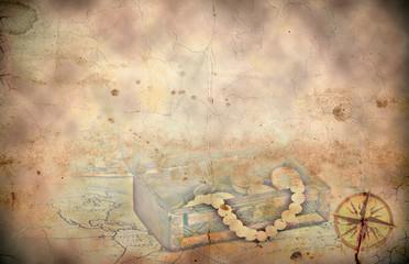 Retro styled treasure map background