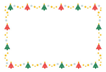 クリスマスツリーと星 フレーム