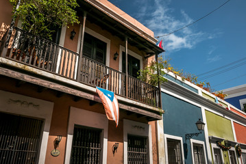 Colorful houses in Puerto Rico