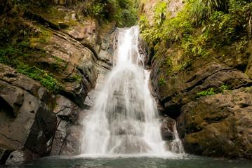 El Yunque waterfall in Puerto Rico