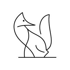 fox vector graphic illustration art deco decoration