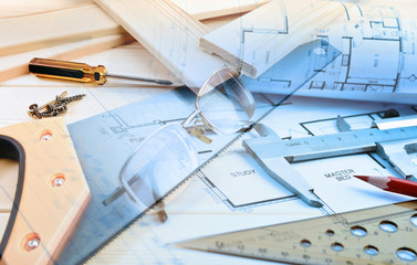 Work tools and blueprints