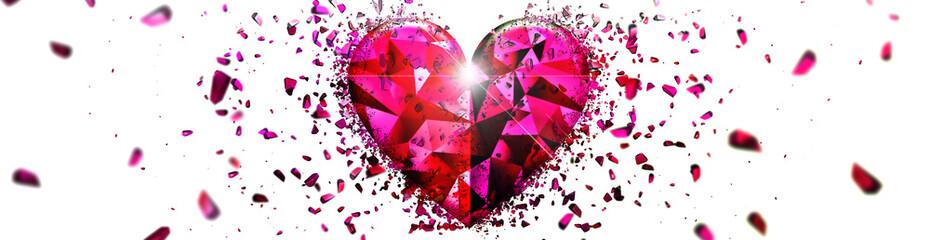 抽象的なピンク色のハート