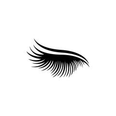 eyelashes logo icon design template vector